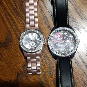 Hello kitty and Miami ink watches